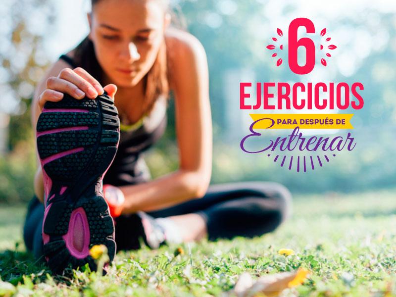 6 ejercicios para después de entrenar