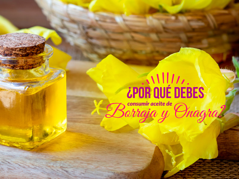 ¿Por qué debes consumir aceite de onagra y borraja?