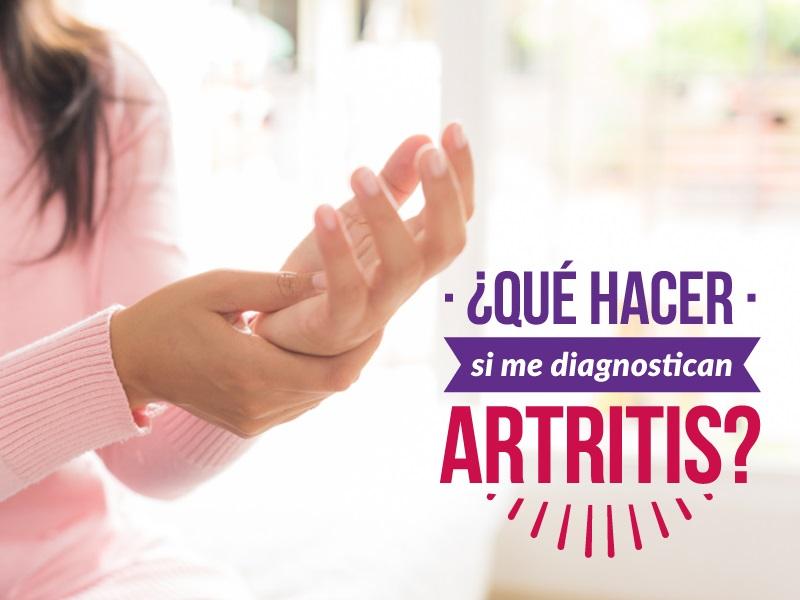 ¿Qué hacer si me diagnostican artritis?